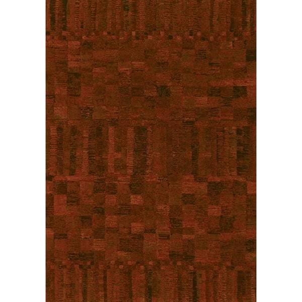 Couristan Easton Crushed Velvet Poppy Red Rug (5'3 x 7'6)