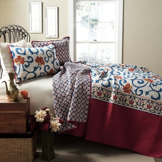 Lush Decor Scroll Flower 3-Piece Quilt Set