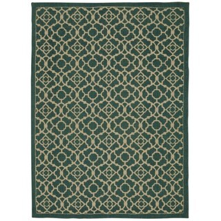 Waverly Color Motion Teal Rug by Nourison (5' x 7')