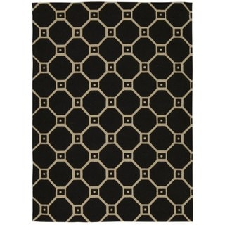 Waverly Color Motion Black Rug by Nourison (5' x 7')