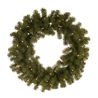 30 Inch Pre-lit Wreath