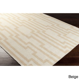 Hand-woven Heaton Abstract Flatweave Wool Rug (2' x 3')