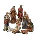 Kurt Adler 9-inch 9-piece Porcelain Nativity Figures Tablepiece Set