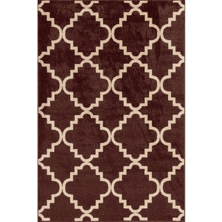 Christopher Knight Home Terrace Vienna Taza Chestnut/ Bone Area Rug (7'10 x 9'10)
