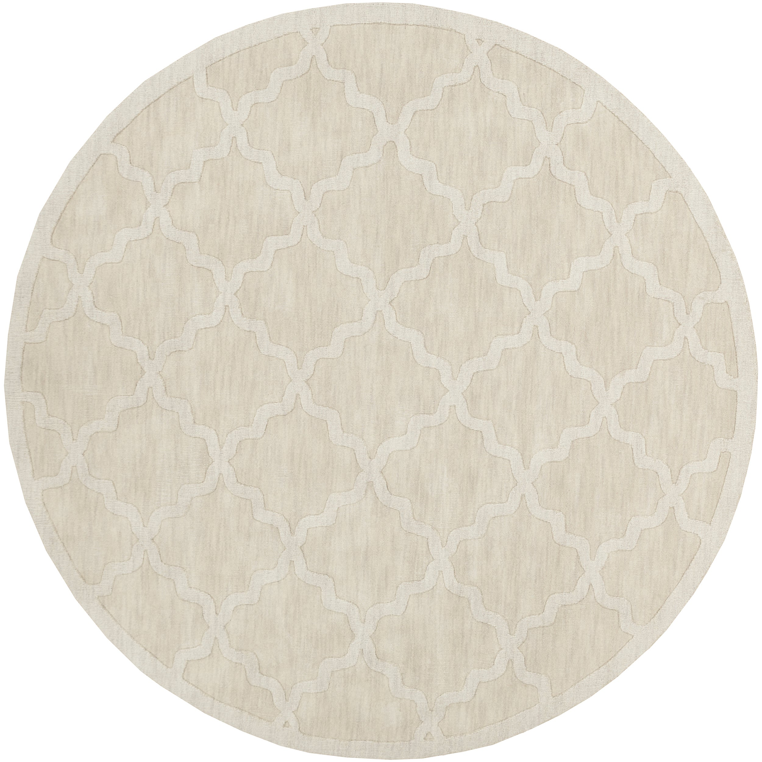 Artistic Weavers Hand-woven Amy Tone-on-Tone Lattice Wool Area Rug-(93 inch round) at Sears.com