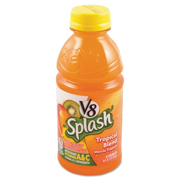 Campbell's V-8 Splash Tropical Blend 16-ounce Bottle (Box of 12)