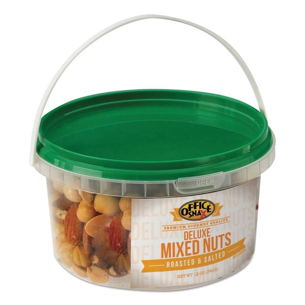 Office Snax All Tyme Favorite Nuts Deluxe Nut Mix 12-ounce Tub