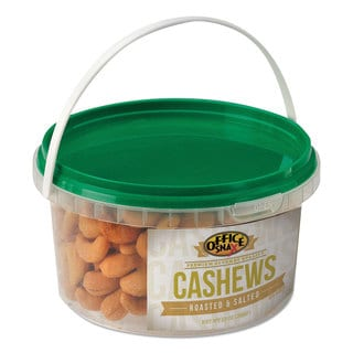 Office Snax All Tyme Favorite Nuts Cashews 13-ounce Tub