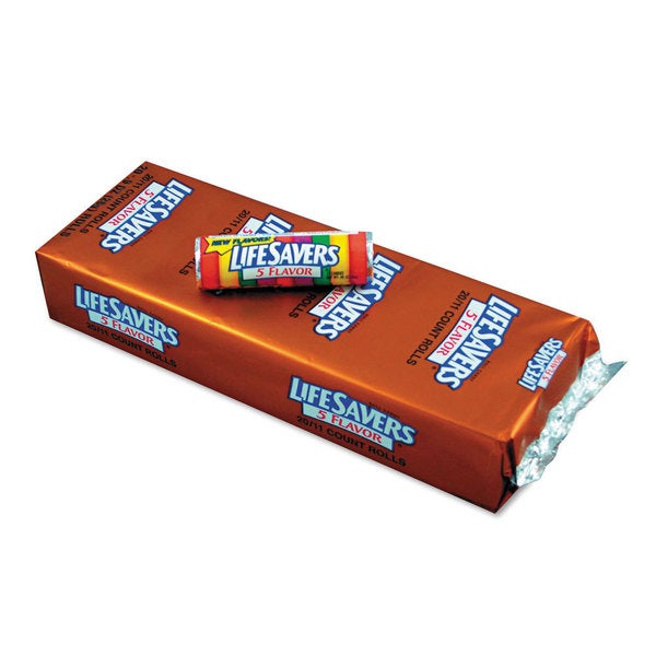 LifeSavers Original Five Flavors Hard Candy 11-piece 0.9-ounce Roll (Pack of 20)