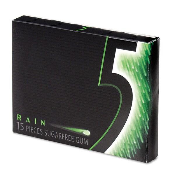Office Snax Wrigley's '5' 15 Stick Sugar-Free Gum Spearmint (2 Packs of 3)