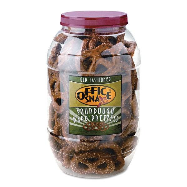 Office Snax Giant Dutch Twist Sourdough Pretzel Assortment 40-ounce Tub (Pack of 2)