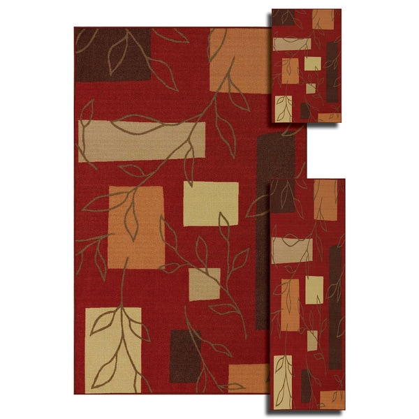 Quintessence Paprika 3 Pack Rug Set