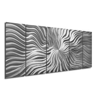 Abstract Modern Starburst Sculpture 'Flexure' Original Metal Wall Art