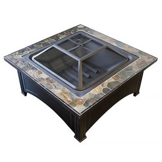 Phat Tommy Slate Top Wood Burning Fire Pit