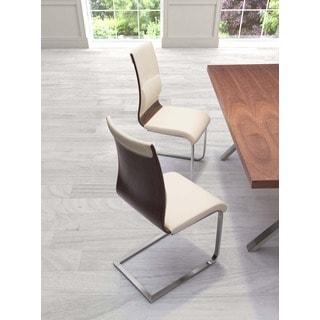 Roxboro Walnut Ergonomic Dining Chair (Set of 2)