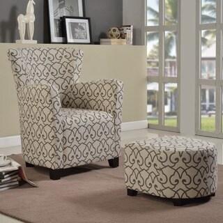Lulu Fabric Cub Chair with Ottoman