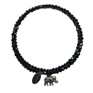 Pink Box Black Forest Wrap Around Bracelet with Elephant Charm