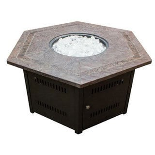 Phat Tommy Faux Stone Top Fire Pit