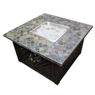 Phat Tommy Lattice Fire pit with Slate Top