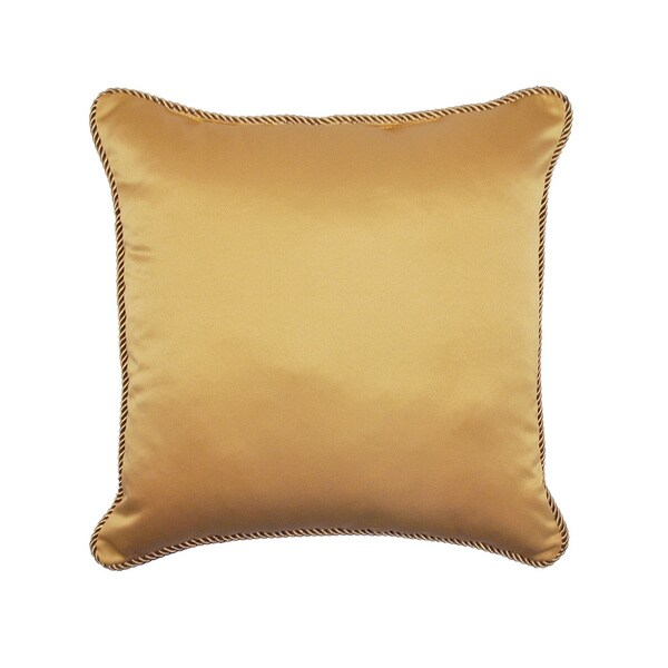 Sherry Kline Oasis Garden Luxury Gold Throw Pillow