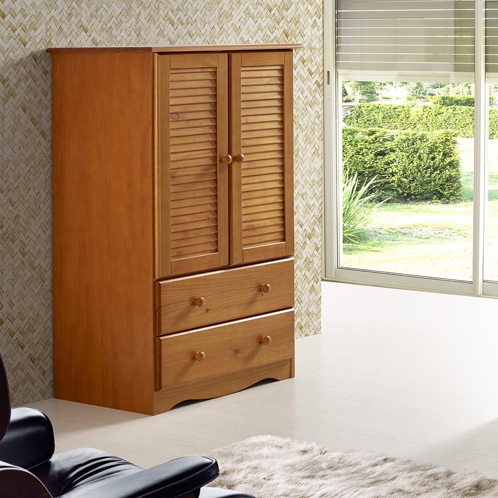 palace imports petite solid wood armoire overstock. Black Bedroom Furniture Sets. Home Design Ideas