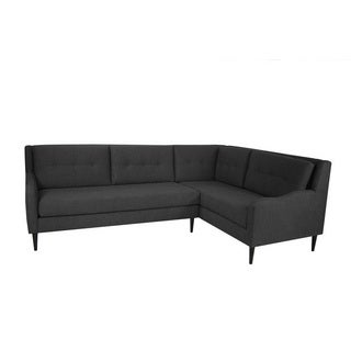 inncdesign Genova Charcoal Grey Sectional Sofa