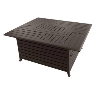 Phat Tommy Rectangle Cast Aluminum Fire Pit with Lid