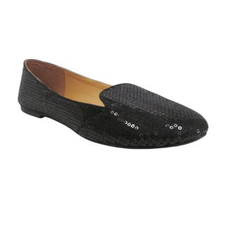 Olivia Miller Women's 'Liz' Sequin Smoking Flats