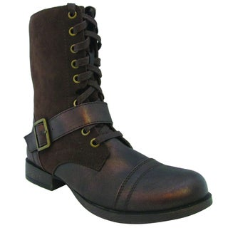 Olivia Miller Women's 'Blaze' Two-tone Combat Boots