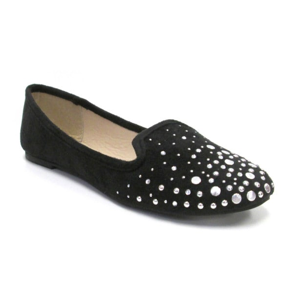 Olivia Miller Women's 'Lila' Heat-seal Studded Smoking Flats