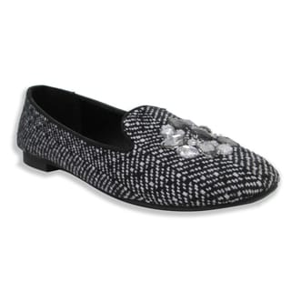Olivia Miller Women's 'Trish' Tweed Smoking Shoes
