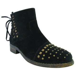 Olivia Miller Women's 'Lacey' Black Ankle Boots