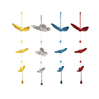Assorted Acrylic Hanging Butterflies Outdoor Decor (Set of 3)