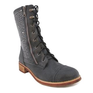 Olivia Miller Women's 'Iris' Studded Combat Boots