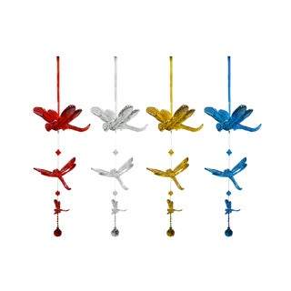 Acrylic Hanging Dragonfly Outdoor Decor (Set of 3)