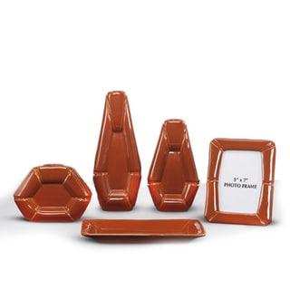 Signature Designs by Ashley 'Rumiko' Burnt Orange 5-piece Accessory Set