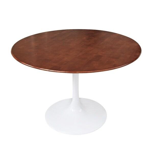 Superior ... Flower 30 Inch White Walnut Wood Top Table · Round ...