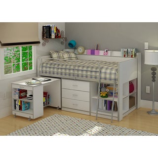 Rack Clairmont White Twin Loft Bed