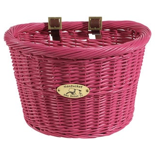 Nantucket Pink Cruiser Bicycle Basket