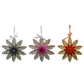 Acrylic Hanging 10-inch Colored Flowers Outdoor Decor