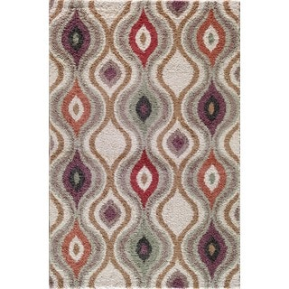 Christopher Knight Home Tacoma Hybrid Ogive Pearl/ Multi Area Rug (7'10 x 9'10)