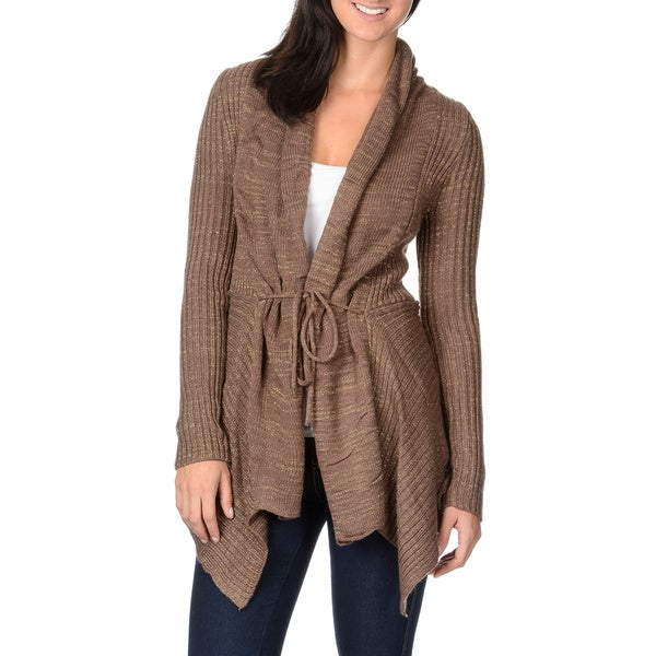 Romeo & Juliet Couture Women's Belted Cardigan Sweater