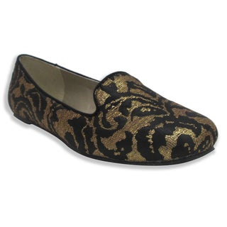 Olivia Miller Women's 'Sonja' Floral Crochet Smoking Shoes