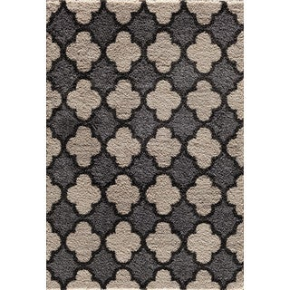 Christopher Knight Home Tacoma Hybrid Quadrant Two-tone Pearl/ Silver Area Rug (7'10 x 9'10)