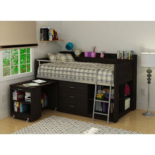 Clairmont Rack Espresso Twin Loft Bed