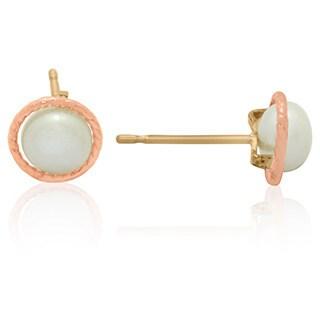 Gioelli 14k Gold 5mm Twisted Pearl Earrings