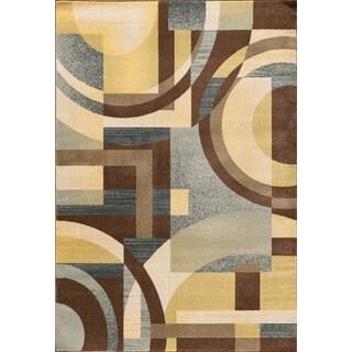 Christopher Knight Home Vintage Circular Angles Brown Area Rug (7'10 x 9'10)