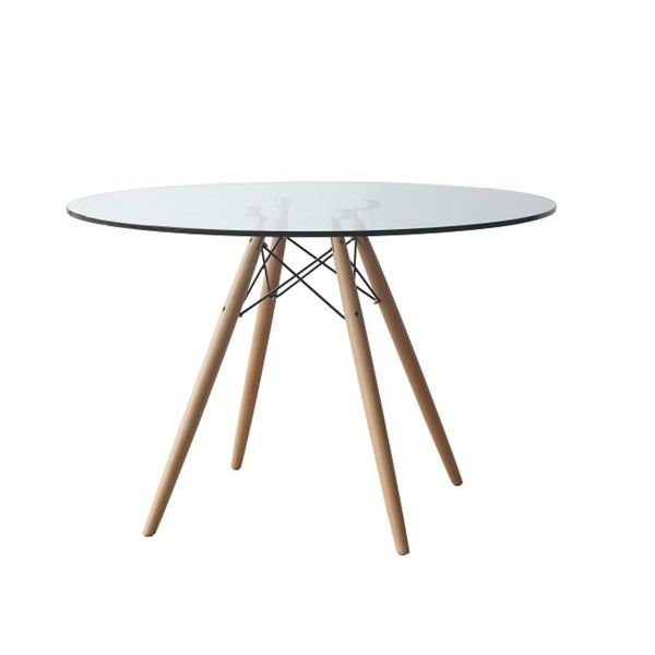 Glass And Wood 48 Inch Round Dining Table 16692761