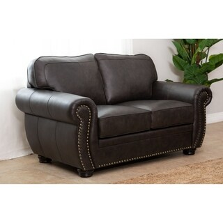 Abbyson Living Richfield Top Grain Leather Loveseat