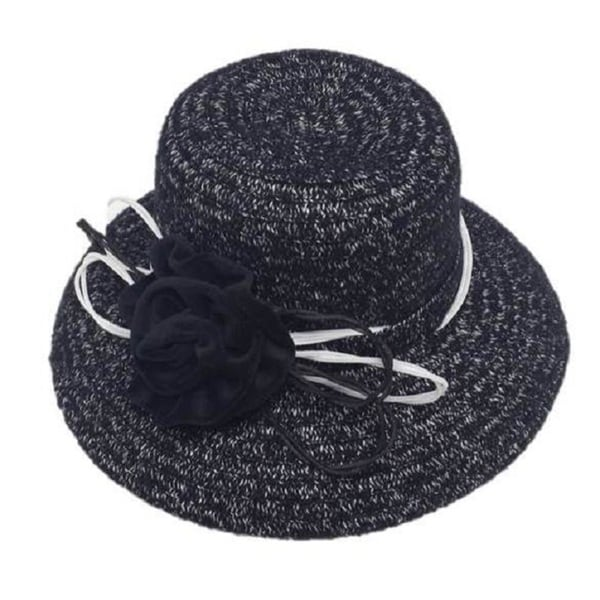 Swan Women's Boucle 'Check' Chenille Ribbon Hat with Velvet Bow